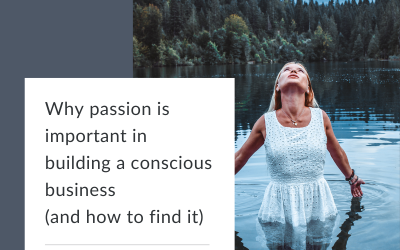 Why passion is important in building a conscious driven business (and how to find it)